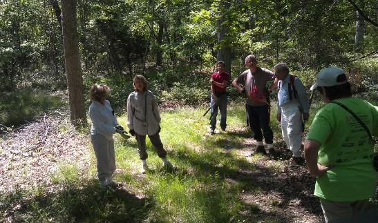 Southampton Trails Preservation Society work party in preparation for a hike